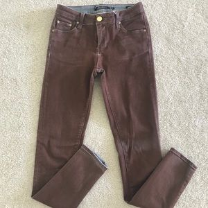 Zara coated jeans